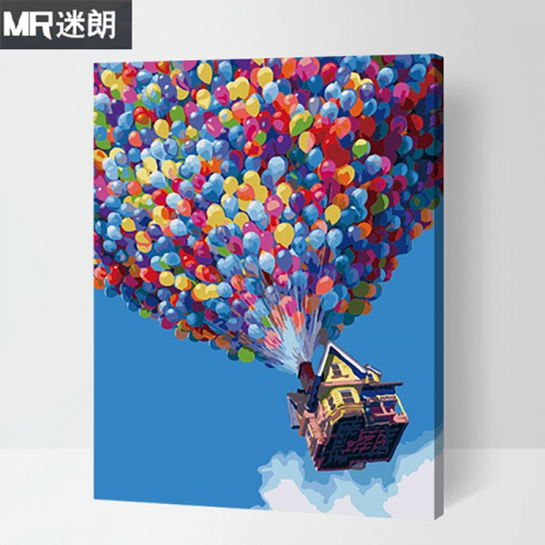 Картины по номерам diy цифровой живопись гостиная пейзаж цветы характер анимация цифровой ручной работы окрашенный заполнить цвет масла цвет декоративный живопись